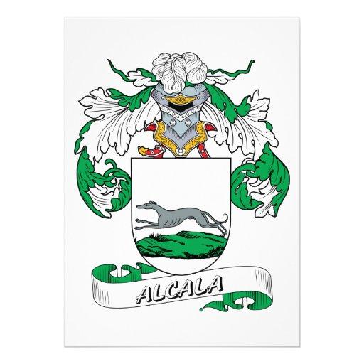 Alcala Family Crest Personalized Invitation