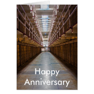 Alcatraz Happy Anniversary card