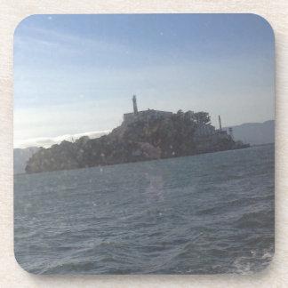 Alcatraz hard plastic coaster