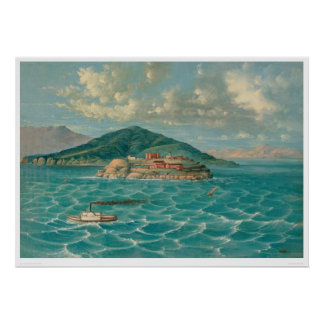 Alcatraz in San Francisco Bay (1856A) Poster