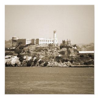 Alcatraz Island 13 Cm X 13 Cm Square Invitation Card