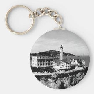 Alcatraz Island Lighthouse Keychain
