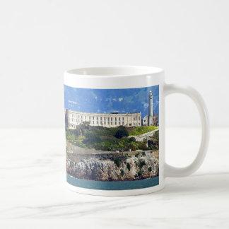 Alcatraz Island Prison San Francisco Panorama Basic White Mug