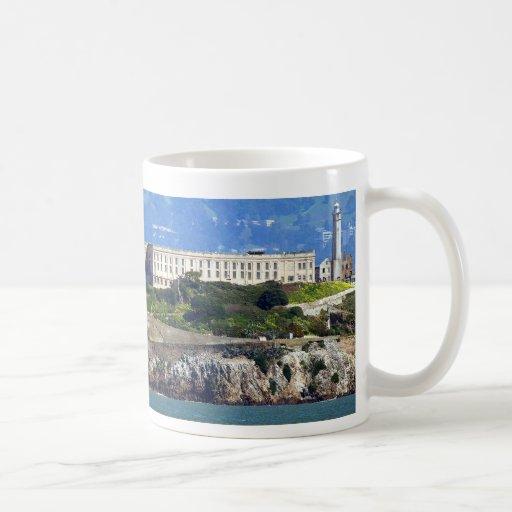 Alcatraz Island Prison San Francisco Panorama Mugs