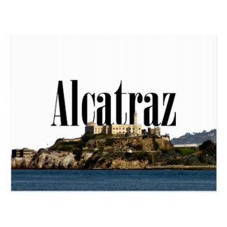 Alcatraz Postcard with Alcatraz in the Sky