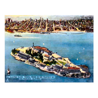 Alcatraz Prison Island, San Francisco Postcard