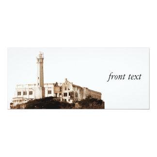 Alcatraz Prison (Sepia Tones) 10 Cm X 24 Cm Invitation Card