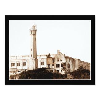 Alcatraz Prison (Sepia Tones) 11 Cm X 14 Cm Invitation Card