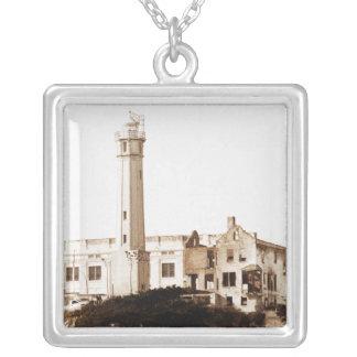 Alcatraz Prison (Sepia Tones) Personalized Necklace