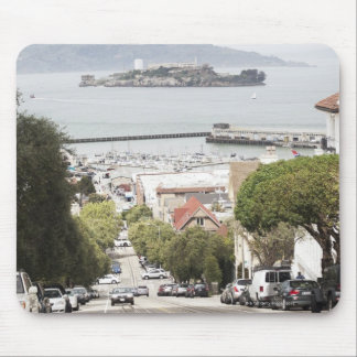 Alcatraz prison viewed from San Francisco Mouse Pad