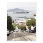 Alcatraz prison viewed from San Francisco Postcard