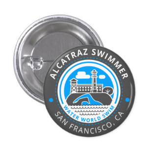Alcatraz Swimmer button