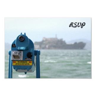 Alcatraz View 9 Cm X 13 Cm Invitation Card