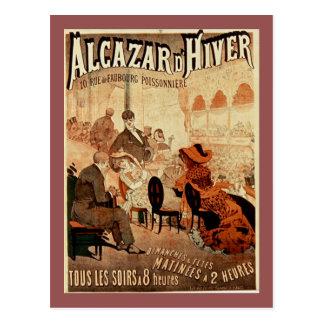 Alcazar d'hiver Vintage Paris Cafe Postcard