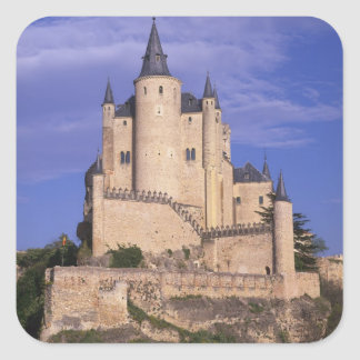 Alcazar, Segovia, Castile Leon, Spain, Unesco Square Sticker
