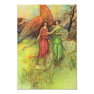 Alceste and the God of Love 9 Cm X 13 Cm Invitation Card