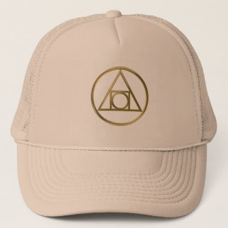 Alchemical symbol trucker hat