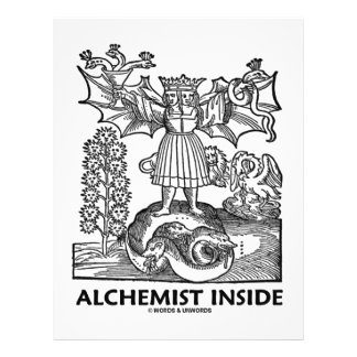 Alchemist Inside Medieval Alchemy Flyers