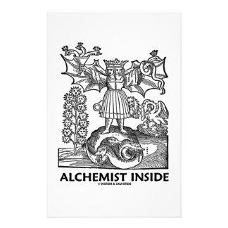 Alchemist Inside Medieval Alchemy Customized Stationery