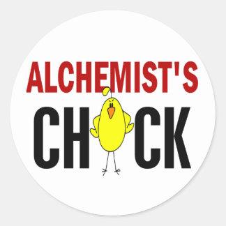 Alchemist's Chick Round Stickers