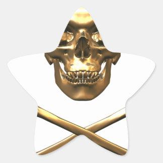 Alchemist s Skull and Bones Star Sticker