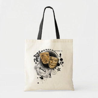 Alchemy of Acting Drama Masks Budget Tote Bag