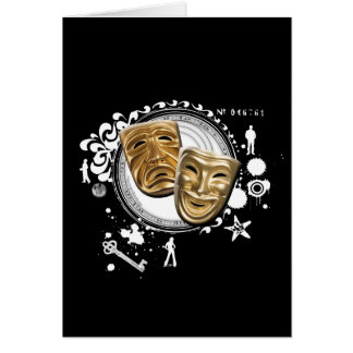 Alchemy of Acting Drama Masks Greeting Card