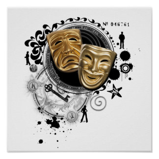 Alchemy of Acting Drama Masks Poster