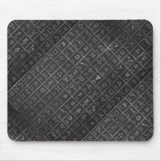 Alchemy Symbols Black Blackboard Chalkboard Mouse Pad