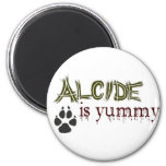 Alcide is Yummy. 6 Cm Round Magnet