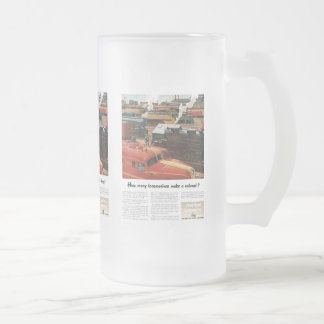 Alco Locomotives Make A Railroad Frosted Glass Beer Mug