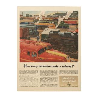 Alco Locomotives Make A Railroad Wood Wall Art