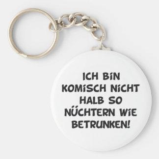 Alcohol Basic Round Button Key Ring
