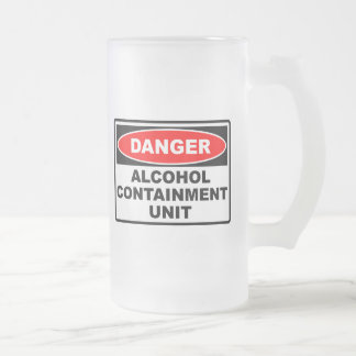 Alcohol Containment Unit Frosted Glass Mug