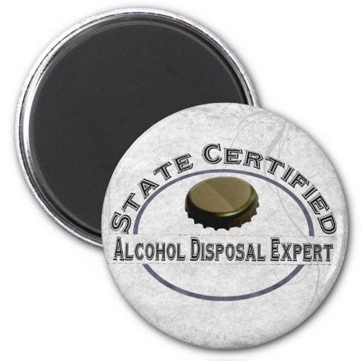 Alcohol Disposal Expert Fridge Magnet