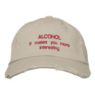ALCOHOL EMBROIDERED HAT