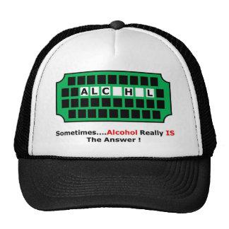 alcohol full mesh hats