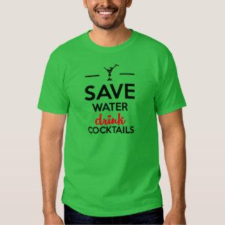 Alcohol Funshirt - Save Water drink cocktails T-shirt