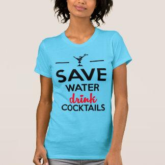 Alcohol Funshirt - Save Water drink cocktails Tee Shirt