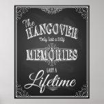 Alcohol HANGOVER bar sign perfect wedding sign Poster
