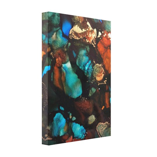 Alcohol Ink Designed Wrapped Canvas