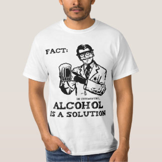 Alcohol is a Solution in Chemistry Retro T-Shirt