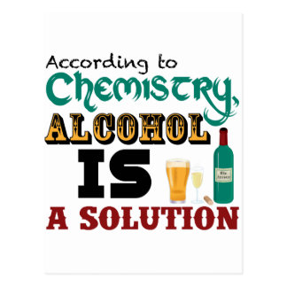 Alcohol is a Solution Postcard