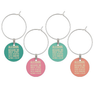 Alcohol - Set of Four Charms