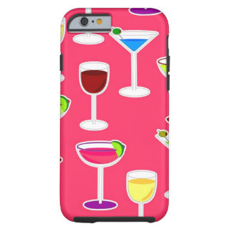 Alcoholic Beverages Cocktail Party - Pink Tough iPhone 6 Case
