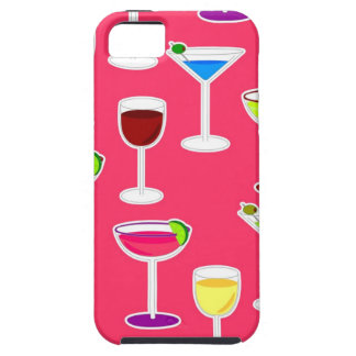 Alcoholic Beverages Cocktail Party Print - Pink iPhone 5 Cases