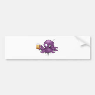 Alcoholic octopus bumper sticker