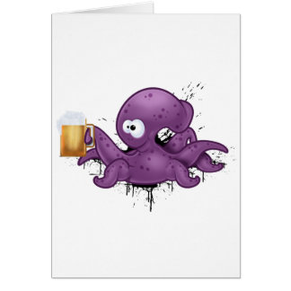 Alcoholic octopus card