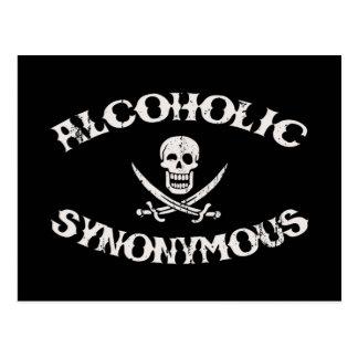 Alcoholic Synonymous Postcard