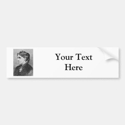 Alcott ~ Louisa May Novelist Writer Bumper Sticker